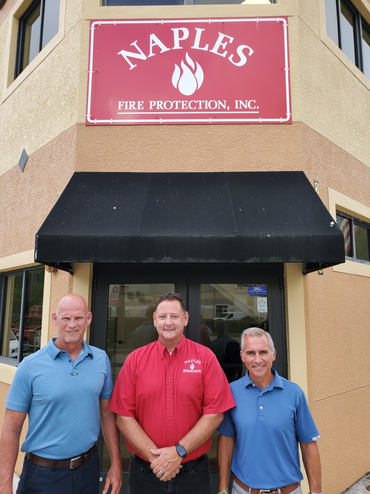 picture with acquired fire protection company Naples Florida